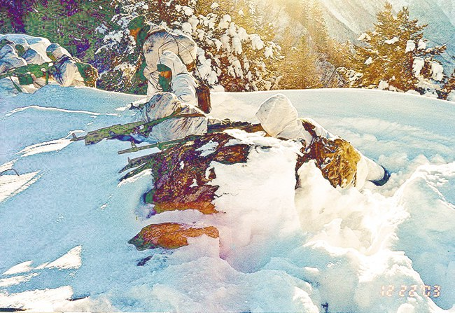 Разведка пограничного спецназа на перевале Жирбак