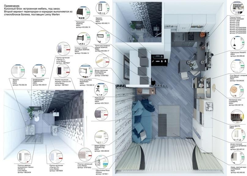 Визуализация готовой квартиры-студии